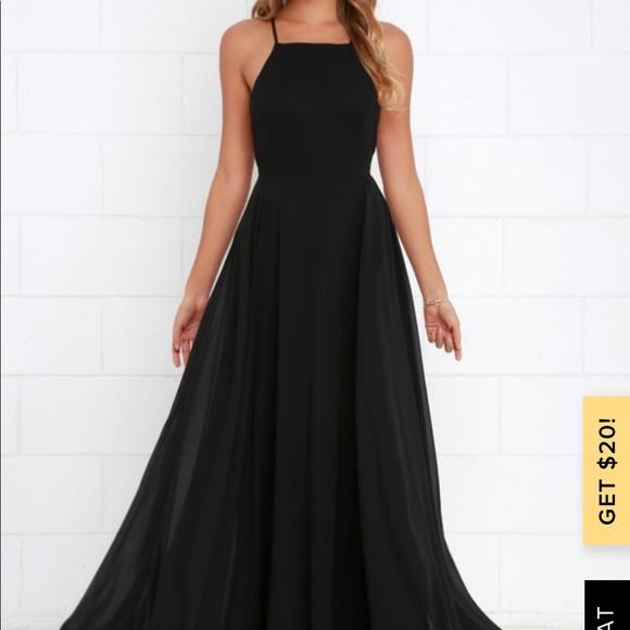 Lulu's Dresses & Skirts - Mythical kind of love black maxi dress lulus